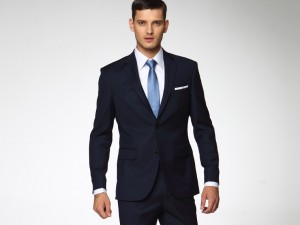 Men-Suits-Slim-Fit-Tailored-suit-Custom-Made-Handwork-Navy-Blue-Wool-Business-Suits
