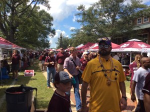 LSU fans stroll thru MSU tailgate tents & Tailgating SEC Style: Mississippi State - One Southern Man