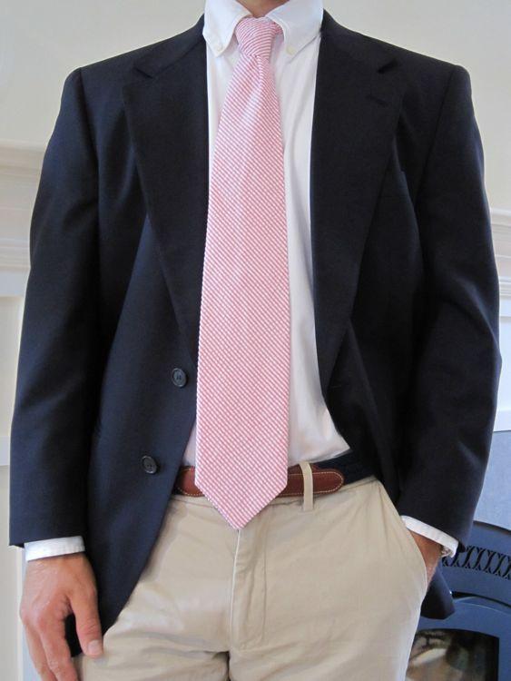Khaki Pants Navy Blazer One Southern Man